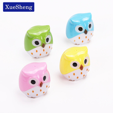 2 PCS Kawaii Owl Pencil Sharpener Cutter Knife Learning Stationery(China)