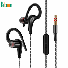 Briame Sport Headphone Music Sweatproof Headset Stereo Bass Running Earphone With Microphone for iphone 5 5S 6 6S Samsung Xiaomi