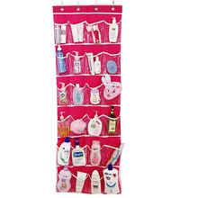 New Fashion 24 Pockets Over Door Hanging Bag Shoe Rack Hanger Storage Tidy Organizer For Dolls Shampoo