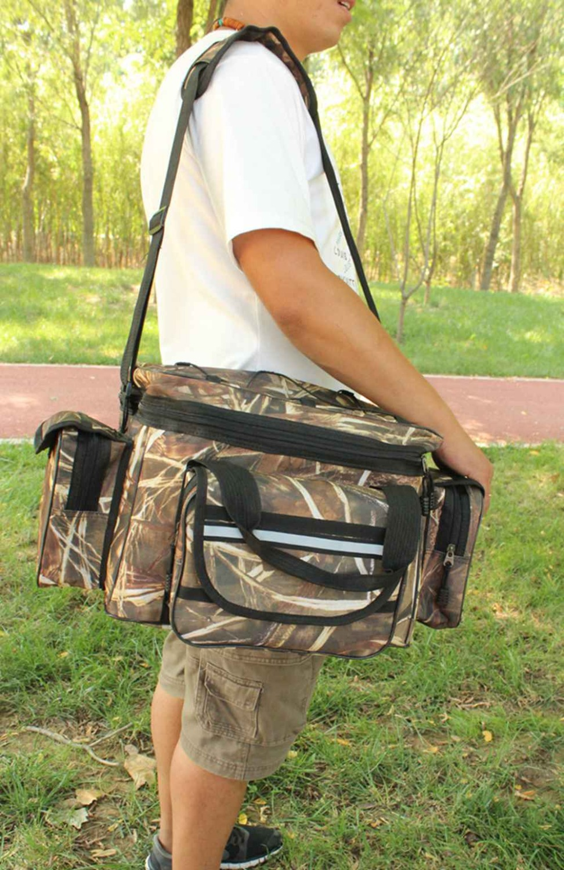 FLY FISHING BAG padded Camo lined fishing Hunting Bag waterproof
