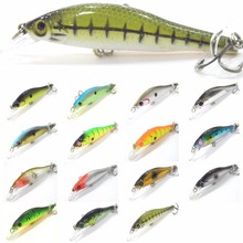 Fishing Lure Minnow Crankbait Hard Bait Fresh Water Shallow Water Bass Walleye Crappie Minnow Fishing Tackle M431
