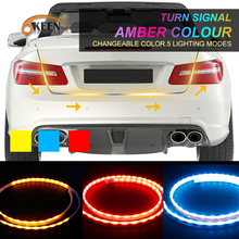 OKEEN car-styling amber/red / blue Led trunk Undercarriage Floating light strip with Turn Signal function drl flexible led bar