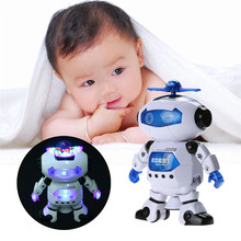 360 Rotating Smart Space Dance Robot Electronic Walking Toys With Music Light Gift For Kids Astronaut Toy to Child(China)