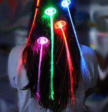 LED Colour Flash Braid Light Up Fibre Braids Hair Extension Disco Night Club Concert Dancing Party Rock Atmosphere props FAVORS