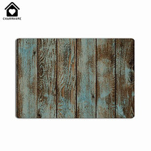 CHARMHOME Hot Sale Old Wood Floor Doormats Print Custom Doormat Non-slip Pad Floor Mat Hallway kitchen Living Room Carpet Mats