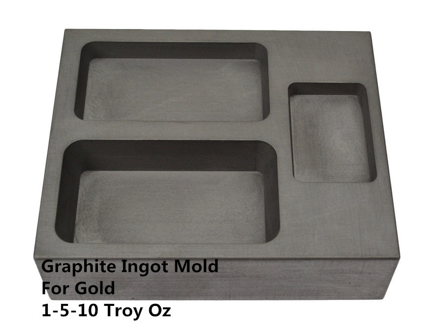 FREE SHIPPING  1piece   Graphite Ingot Combo Mold for 16oz Gold bar casting  Melting Casting Refining Scrap     / graphite mold<br>