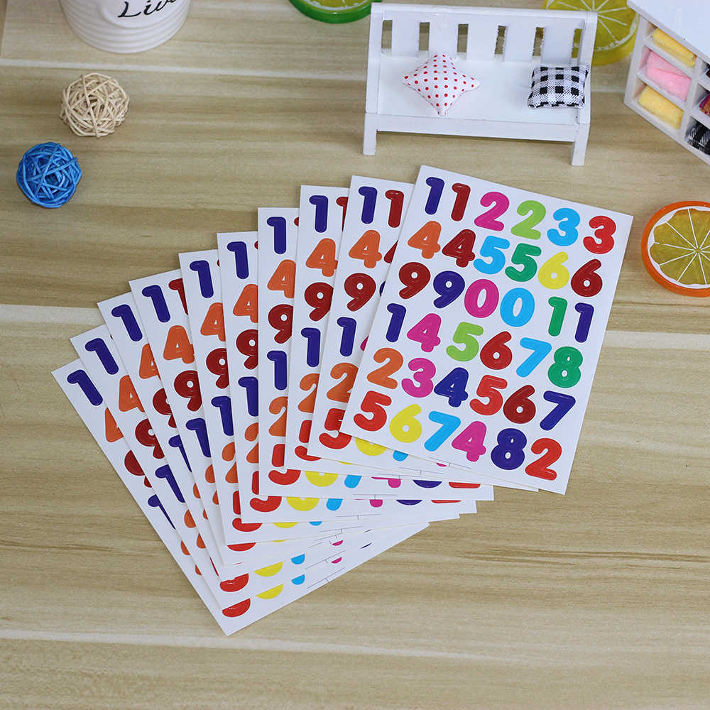 Detail feedback questions about 10 sheets a pack number stickers labels for scrapbooking decoration diary planner photo albums exercise books digits