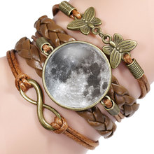 NingXiang New Arrival Handmade Super Moon Bracelet For Kids Butterfly Infinity Leather Cool Bracelet Designs Best Friend Gifts