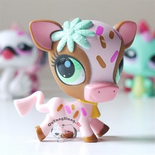 Pet Shop Animal  Gold powder petal Cattle doll action Figure CW035