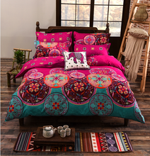 Bedding Sets King Size Bohemian Duvet Cover Set For USA,bed Linens Quilt cover sheet set bedding 4-7Pcs Russia Size bedclothes
