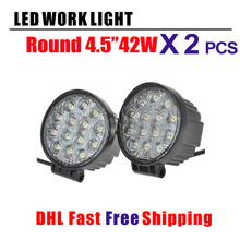 2 pcs 42W 4.5 inch CR EE Chips 4D Led Work Light Flood/Spot LED Offroad Driving Light SUV ATV UTV 4WD 4X4 Led Fog Lamp 12V 24V(China)