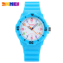 Fashion Casual Child Sport Wrist Watch For Girls And Boys Quartz Silicone Baby Waterproof Kids Watches deportivos SKMEI 1041(China)