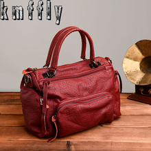 KMFFLY 2017 Fashion Women Bag Luxury Brand sheepskin Leather Women Messenger Bags Ladies Handbags Woman Leather Handbags Sacs(China)