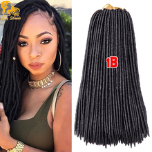 18 inch faux locs crochet hair Kanekalon Long crotchet locs hair extensions 2X bobbi boss crochet faux locs