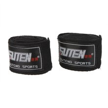 suteng 2pcs/roll Width 5cm Length 2.5M 100% Cotton Sports Strap Boxing Sanda Muay Thai MMA Taekwondo Bandage Hand Wraps black