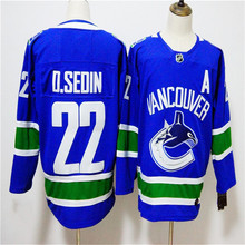 Mens Daniel Sedin Embroidered Throwback Hockey Jersey Size M-3XL(China)