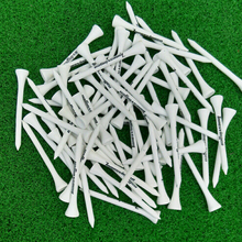 Hot Sale 100pcs 70MM White Wooden golf Ball Tees Printing Golf Tee New(China)
