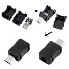 100PCS Micro USB Male Connector Male Micro USB Jack 2.0 5PIN Plug Socket With Plastic Cover For Kinds of DIY