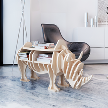 Wooden rhinoceros table with bookcase Reading Table For Home Ship From ES