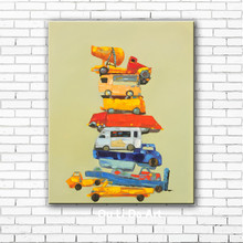 NEW modern cartoon kinds car scenery canvas printings oil paintings printed on canvas home kid room wall art decoration picture