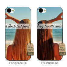 MaiYaCa soft Every Brunette Needs A Blonde Best Friend couple Top Popular phone case For iPhone se 5c 6s 7 plus case