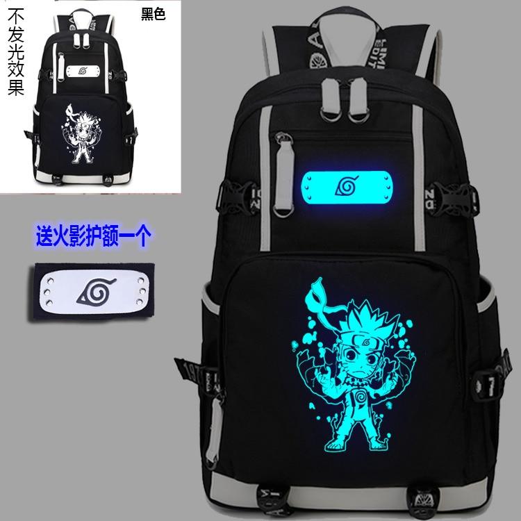 Japan aniem NARUTO Backpacks Cosplay Shoulder Bag Men Women School Students Canvas Bags Schoolbags Cartoon Noctilucent Package<br>