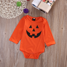 New Halloween Christmas Baby Boy Girl pumpkin Long Sleeve Romper Jumpsuit Newborn Kids Clothes Outfit