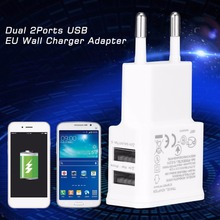 1pc Home USB Power 2A Dual 2Ports EU Wall Charger Adapter for Samsung for iPhone for HTC Hot Worldwide