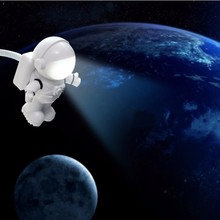 USB Reading Light LED Night Light Lamp For Bedroom Night Lamp Kids Space Astronaut Book Desk Table Light For PC Notebook Laptop(China)
