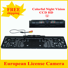 Free Shipping ,Newest Product  European  Car Reversing Rear View Camera License Plate Night Vision Backup Parking Sensor