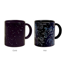 Magic Color Change Mug Ceramic Constellation Style Morning Mug Birthday Gift  Hot Water Color-Changing Cups Free Shipping SH49