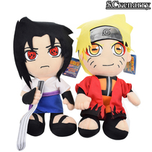 "Anime Naruto Uzumaki Naruto Uchiha Sasuke Plush Toys Soft Stuffed Dolls 12"" 30cm Baby Toys boys and girls Christmas gifts CS1HB"