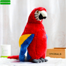 Collection Ara Macao Parrot Stuffed Animals Dolls Simulation Lifelike Red Plush Toy Lovely Scarlet Macaw Birds Kids Gifts Party