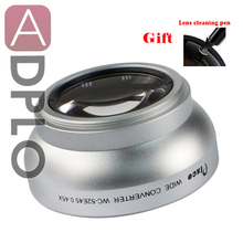 52mm 0.45X Wide Angle Lens with Macro suit For Canon Nikon Pentax Sony Panasonic(Silver)+with Lens Cleaning Pen
