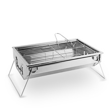 Outdoor Home Portable Barbecue Grill Box Stainless Steel BBQ Stove Apply for 3-5 People