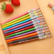 12pcs/lot Colored Diamond Head gel pen set Korean candy color ink pens for writing Kawaii stationery Office school supplies