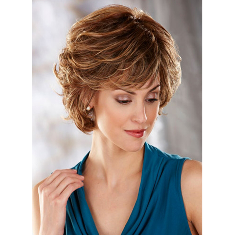 New Fashion Women Amazing Color Wavy Bob Hairstyle Synthetic Hair Wigs Hot Sale SW0098<br><br>Aliexpress