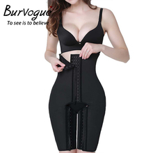Buy Burvogue Women Latex High Waist Steel Boned Shapewear Butt Lift Body Shaper Plus Size Pants hook Tummy Control Panties Shaper