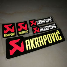 5pcs/lot Car Sticker Decals for AKRAPOVIC Mazda Hyundai Ford Volkswagen Car Motor Helmet Car Styling