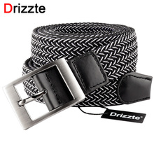 Drizzte Mens Plus Size 120 140 160 180CM Belts Black Elastic Belt Mens Stretch Braided Waist Belt 47-71inch Long Big and Tall(China)