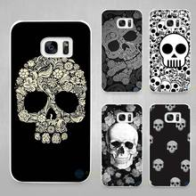 Skull flowers love Hard White Coque Shell Case Cover Phone Cases for Samsung Galaxy S4 S5 S6 S7 Edge Plus(China)