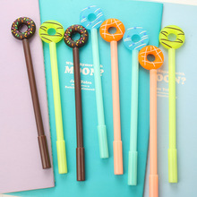 0.38mm Cute Kawaii Donuts Gel Pens Lovely Candy Color Pen For Kids Stationery Gift Korean Stationery Free Shipping 2442(China)