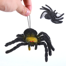 Halloween Novel Black TPR Simulation Spider Shaped Rubber Kids/Children Toy(China)