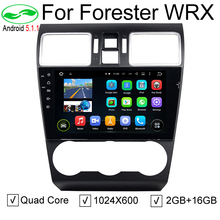 Quad Core Pure Android 5.1.1 Auto PC Car DVD GPS For Subaru Forester WRX 2014 2015 2016 With Stereo Radio Bluetooth 4G WiFi OBD