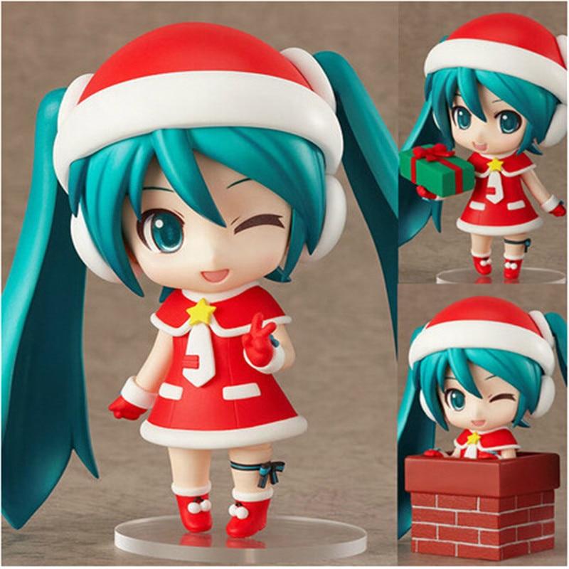 Brithdays gifts Q version Hatsune Miku action figure toys kawaii 10cm Hatsune Miku cosplay Brithdays clothing PVC model kids toy<br><br>Aliexpress