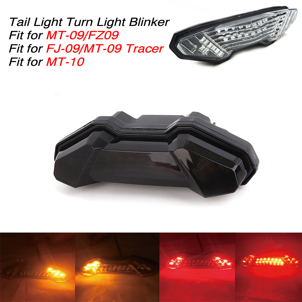 Tracer 900 INTEGRATED Signal LED Tail Light SMOKE 14-16 Yamaha FZ-09 FJ-09 19