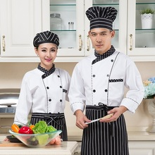 Hotel Restaurant Chef Uniform Baker's Wear Long Sleeved Jacket Hotel Restaurant Chef Uniform Chef Uniform Waiter Clothes B-5600
