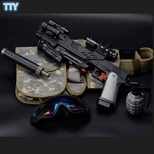 COLT Electronic Auto Fire ABS Toy Gun sniperscope toy Airsoft crystal bullet nerfie colt pistol gun toys for Children cool gifts