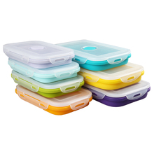 Portable Silicone Collapsible Lunch Folding Picnic Food Storage Boxes Container Bowl Eco-Friendly  Storage