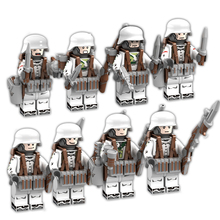 Kazi 8pcs/set Military Soldiers figures Building blocks set Compatible legoed army Weapon Bricks Enlighten children toys friends(China)